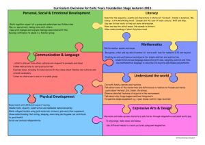 Curriculum Overview for Early Years Foundation Stage