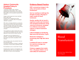 Blood Transfusion Pamphlet - Melissa Wise`s Professional RN portfolio