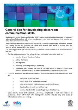 General tips for developing classroom communication skills