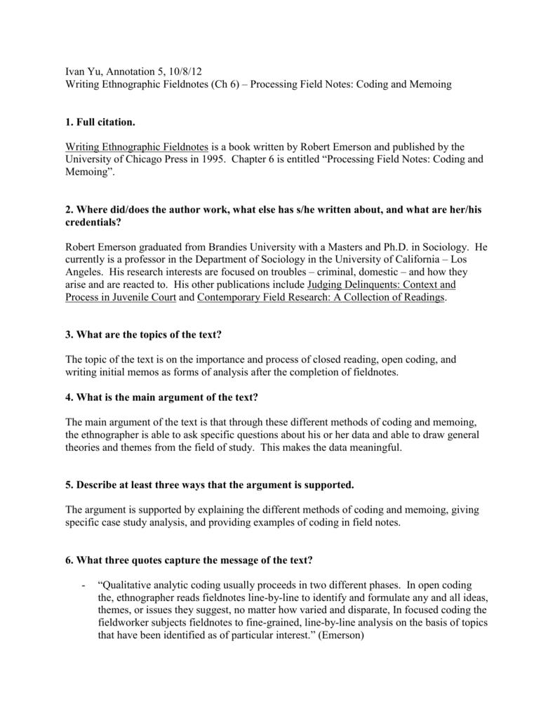IYu - Annotation5_ Writing Ethnographic Fieldnotes (Ch 6)