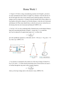 Home Work 1 1-1 Figure 21-39 shows a long, nonconducting