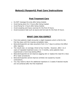 Botox® Post Care Instructions