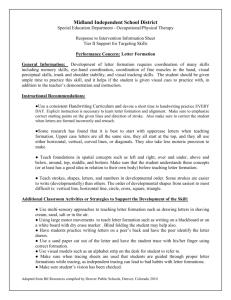 handwriting assessment checklist