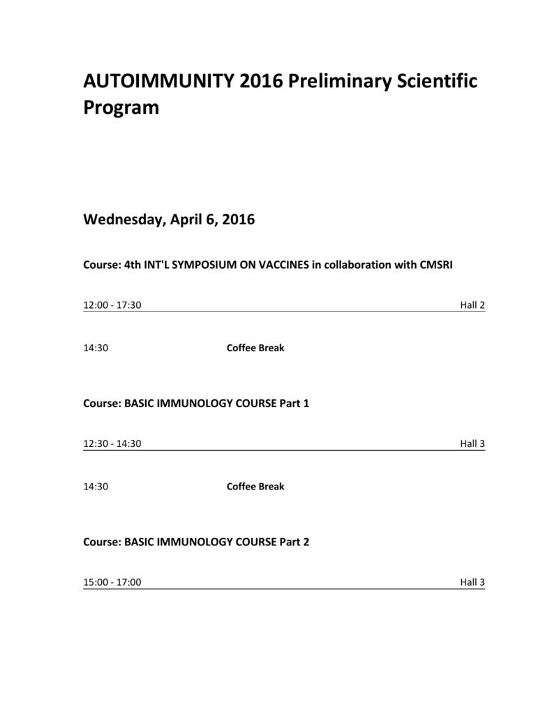 AUTO16 Scientific Program December 2015