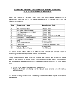 Advisory on Staffing of Nursing Personnel