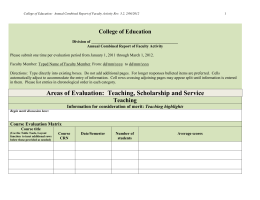 Annual Evaluation Conference Form