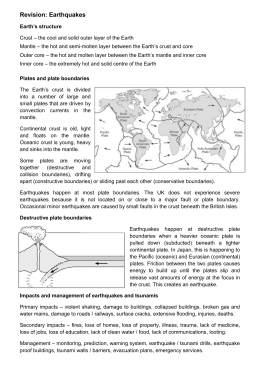 Earthquakes Revision Sheet