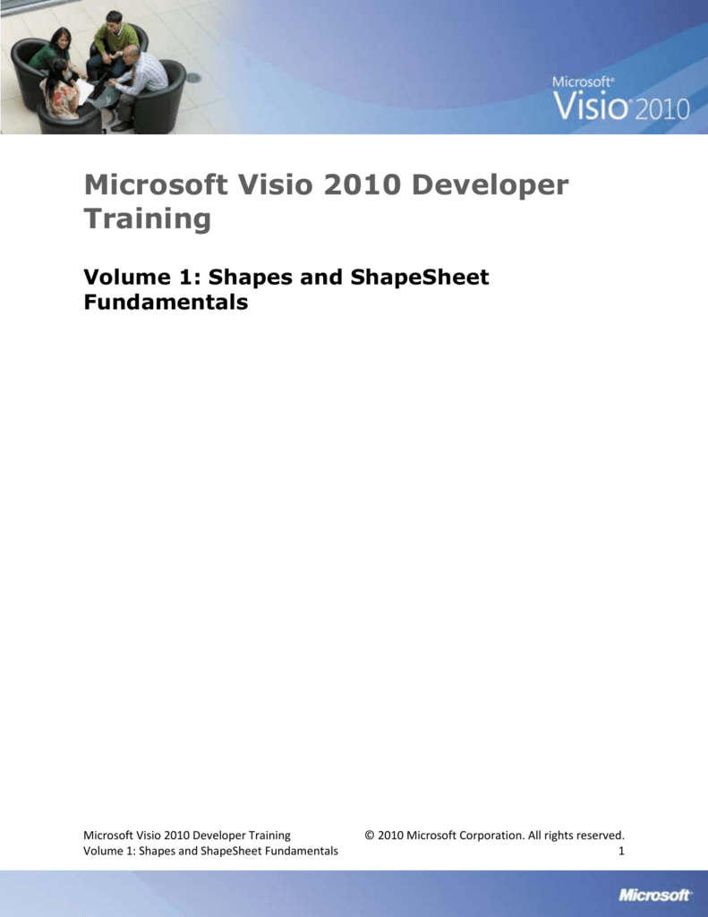Microsoft Visio 2010 Developer Training