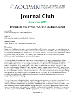 AOCPMR Journal Club Discussion - Sept 2013