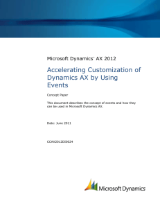 Accelerating Customization of Dynamics AX by Using Events