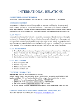 International Relations - Montclair State University
