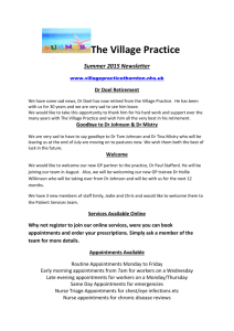Read our Newsletter - The Village Practice, Thornton