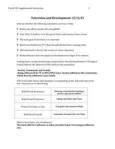 12/3/15: Television and Development Worksheet ANSWERS