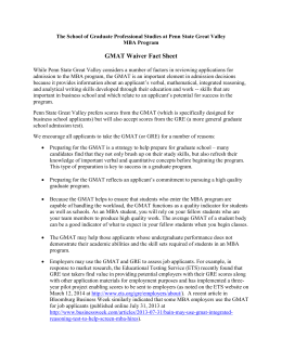 GMAT Waiver Fact Sheet - Penn State Great Valley