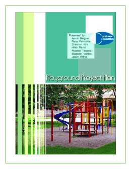 Playground Project Plan