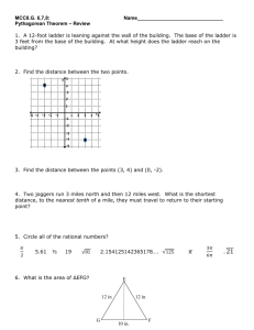 Unit 3 Test: Geometric Applications of Exponents