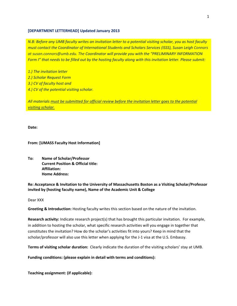 Invitation letter template university of massachusetts boston stopboris Choice Image