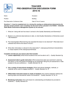 teacher pre-observation discussion form 2015-16