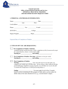 OPT forms - Lincoln University