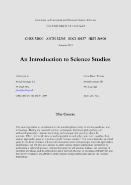 Committee on Conceptual and Historical Studies of Science