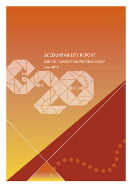 Accountability Report – G20 Anti-Corruption Working Group (2014)
