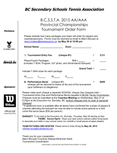 2015 Provincial Tennis Tournament Order Form