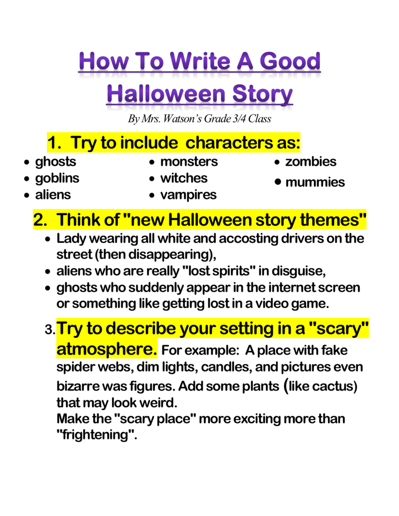 How To Write A Good Halloween Story