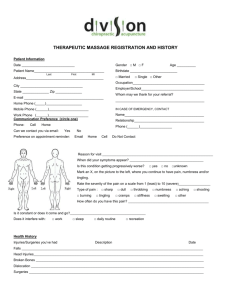 New Patient Massage Forms