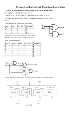 Problems on Boolean Logic Circuits and Algorithms