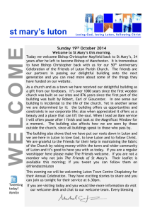 Service Sheet - St Mary`s Luton