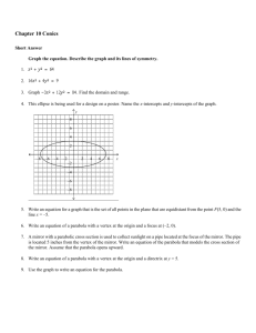 Chapter 10 Conics Answer Section