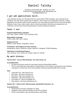 Current Resume in Word  Format