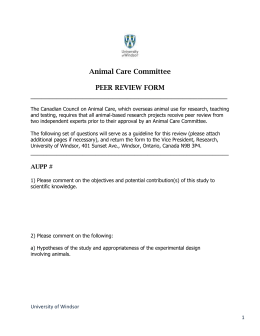 Peer Review Form Revised September 2013