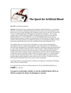 The Quest for Artificial Blood