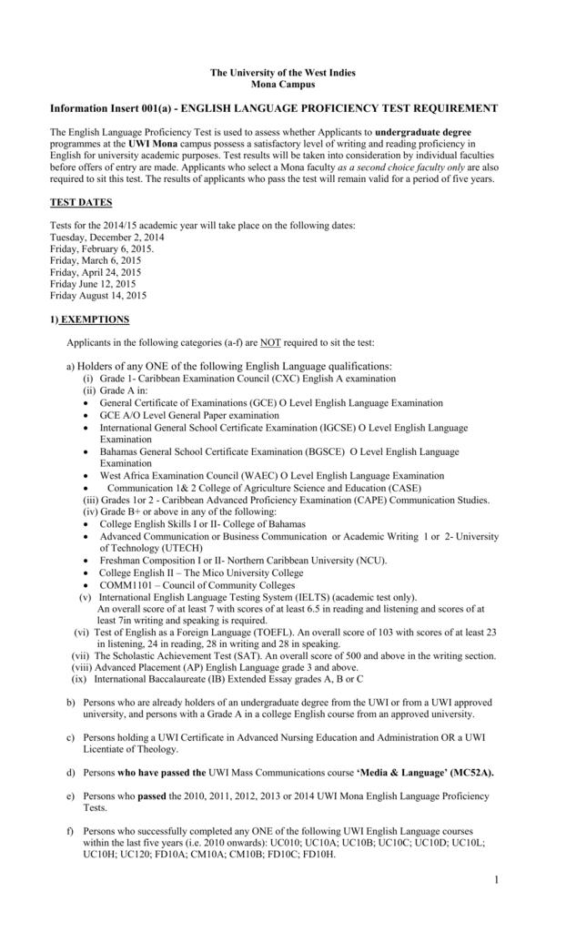 Information Insert 001a English Language Proficiency