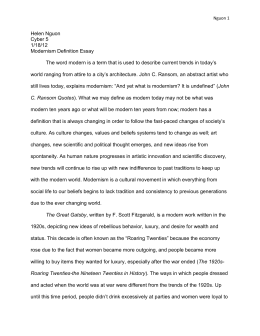 Modernism definition essay