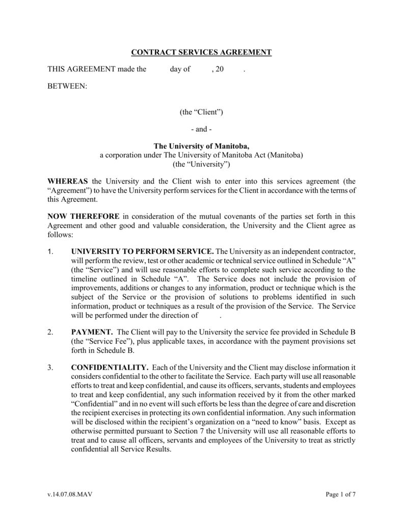 Technical Services Agreement