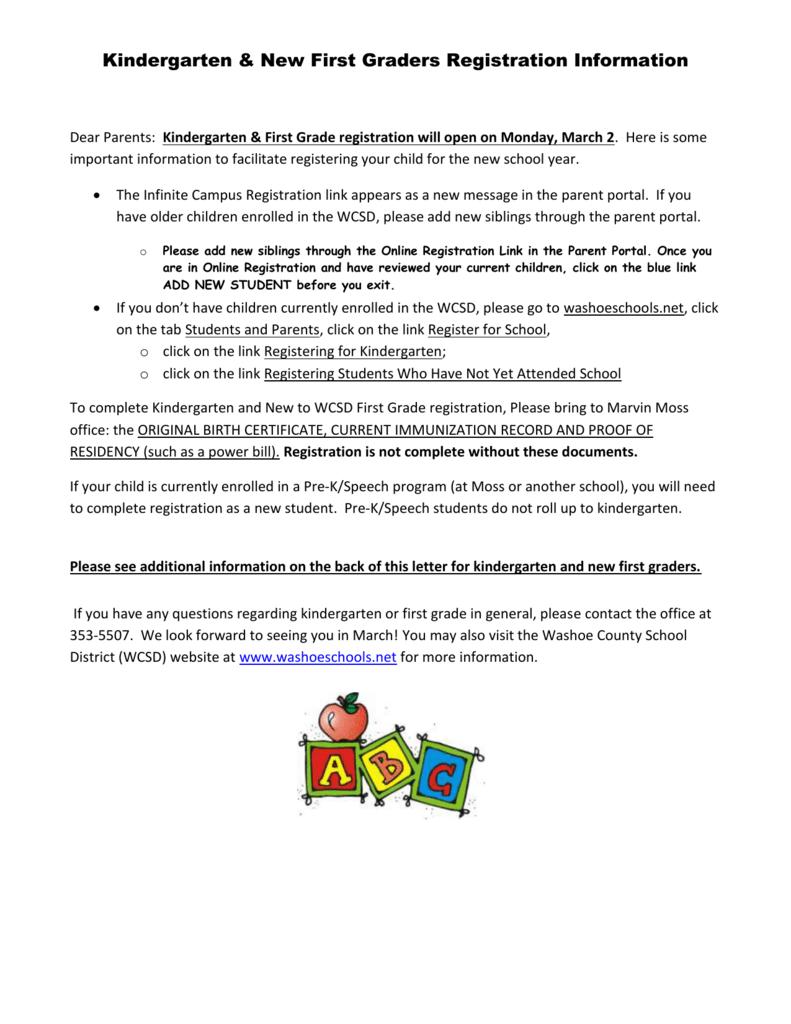Kindergarten Registration Instructions