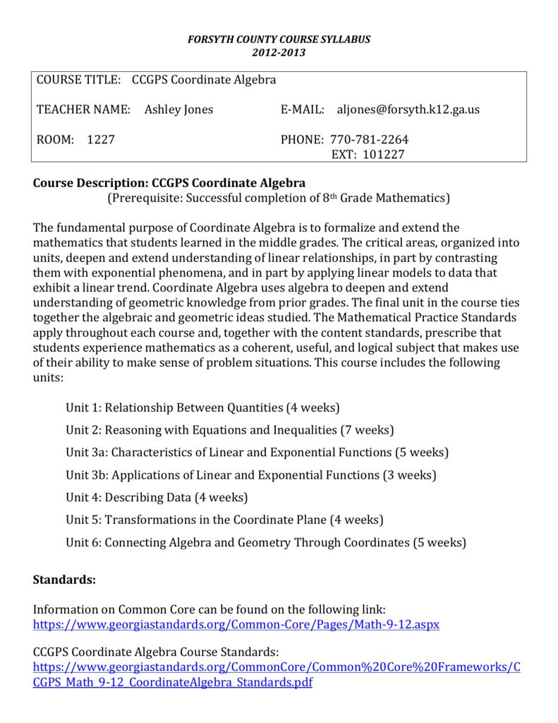 Workbooks mcdougal littell math course 1 practice workbook : CCGPS Coordinate Algebra