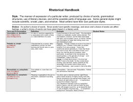 Rhetorical Handbook