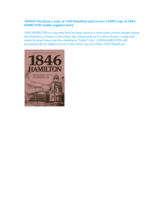 BONUS! Purchase a copy of 1960 Hamilton and receive a FREE
