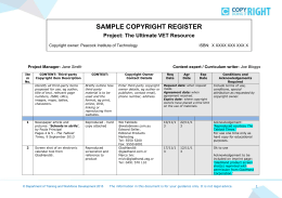 Sample Copyright Register [DOCX 144kb]