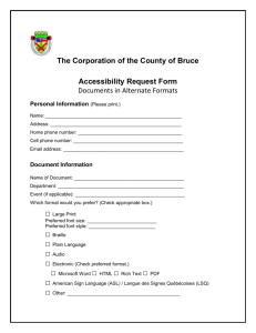 Accessibility Request Form (Word version)