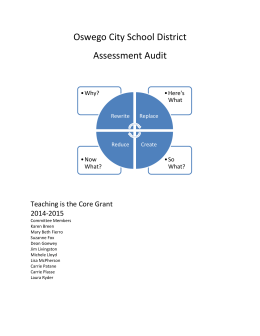 Assessment Audit - Oswego City School District