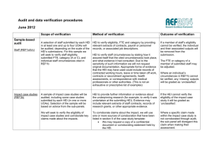 Audit and data verification procedures June 2012