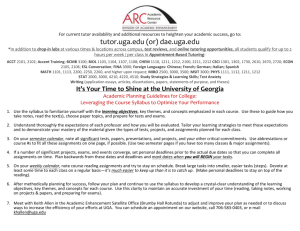 It`s Your Time to Shine at the University of Georgia