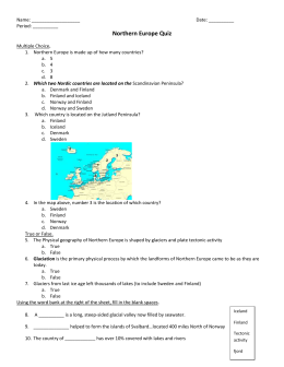 Northern Europe Quiz