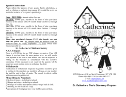 s brochure - St Catherine`s Preschool
