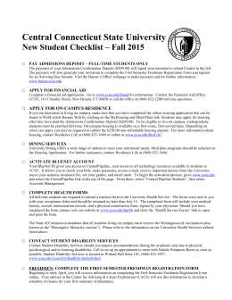 Get the First Year Student Checklist