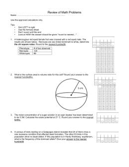 AP Biology Population Ecology Practice Problems Answer the